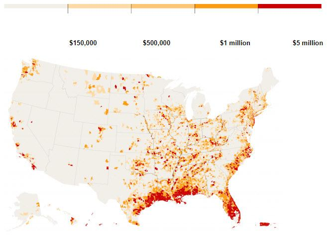 U.S. Disaster Zone Map